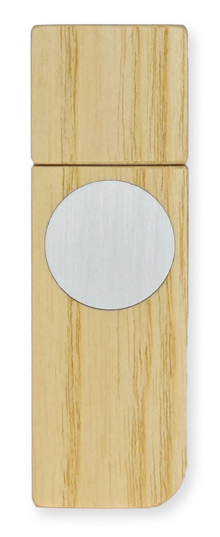Gravierbarer USB-Stick aus zeitlosem Edelholzfurnier