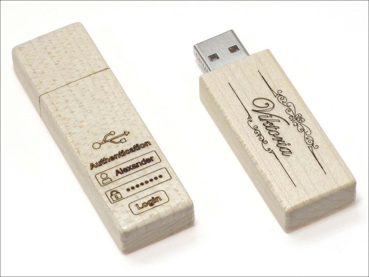 Holz-USB-Stick Woody Ahorn